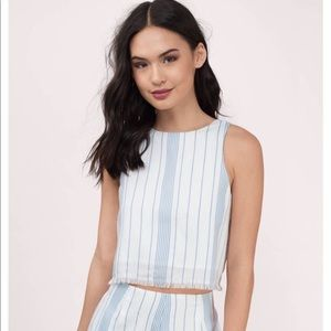 Blue and white striped tank (NWT)